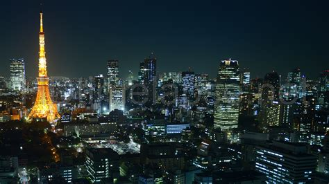 ultra hd  video time lapse stock footage tokyo tower