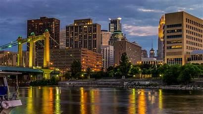 Minneapolis River Mississippi Usa Street Bridges Rivers
