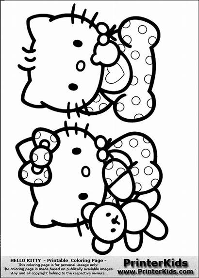 Kitty Hello Coloring Pages Printable Colouring Sheet