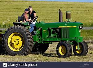 Farmer And His Wife On John Deere 3010 Diesel Tractor In Harrison Stock Photo  24300674