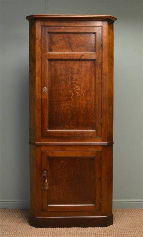 vintage corner cabinet quality georgian figured oak large antique floor standing 3179
