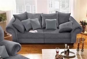 Sofa Landhausstil Holz : home affaire big sofa king henry in legerer polsterung ~ Lateststills.com Haus und Dekorationen