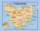 Australia - TASMANIA MAP - Travel Souvenir Flexible Fridge ...