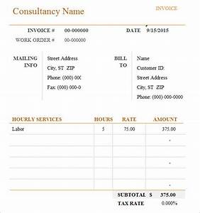 Contract Labor Invoice Template 9 Consulting Invoice Samples Examples Templates