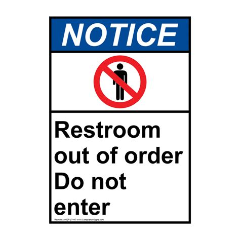 Professional Out Of Order Restroom Signs Astana Hotel Info