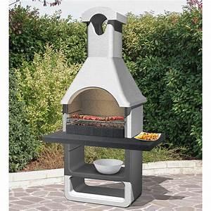 Brasero En Pierre : barbecue en b ton gris clair cr pir ginevra x x cm leroy merlin ~ Nature-et-papiers.com Idées de Décoration