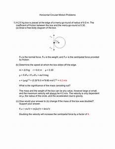 Free Body Diagram Centripetal Force