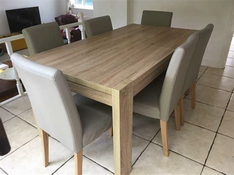 Next Furniture Full Dining Room Set. Table And Chairs
