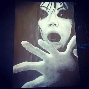 Scary Anime Girl Drawing
