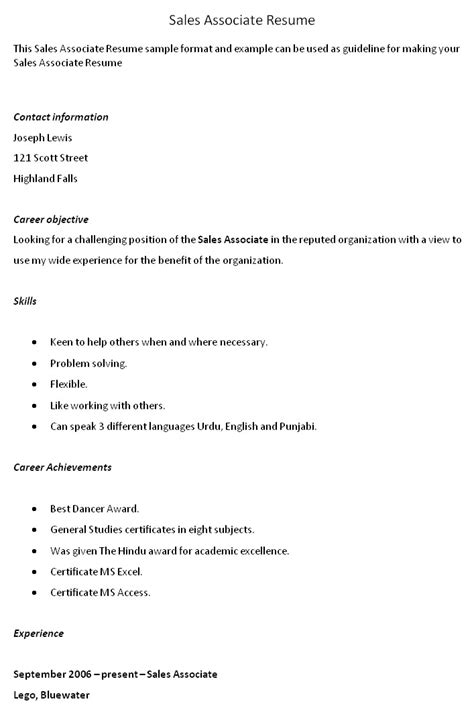 ideas of gap sales associate sle resume for your resume