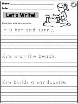 bundle sentence writing practice  images