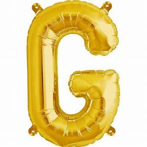 letter g foil balloon small foil balloons shindigscomau With small gold letter balloons