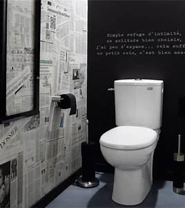 personnaliser ses wc decorer une piece avec du papier journal With ordinary quelle couleur de peinture pour un couloir 1 renovation dun appartement
