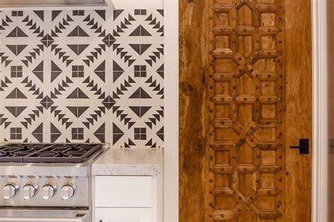 blue mediterranean mosaic kitchen backsplash tiles design