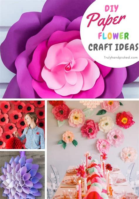 diy paper flower crafts ideas  home decor step