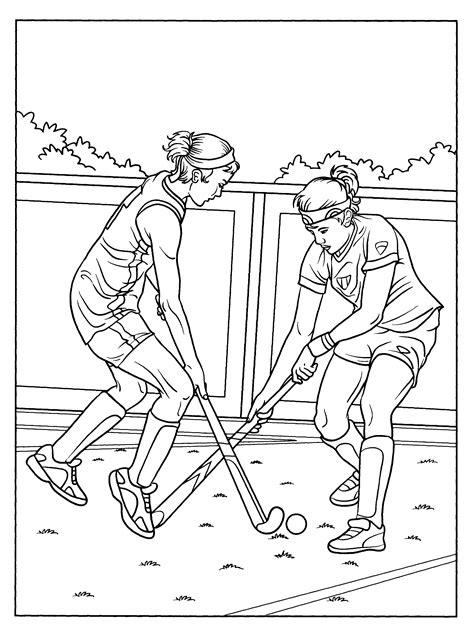 Kleurplaat As Hockey kleurplaat sport