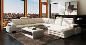 Canapé Panoramique 7 Places : canap panoramique cuir new york xl canap cuir 7 8 places 2 reposes pieds ~ Teatrodelosmanantiales.com Idées de Décoration