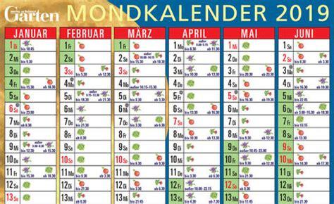mondkalender fuer garten zum ausdrucken kalender