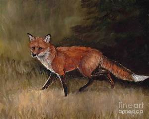 Red Fox Painting by Charlotte Yealey