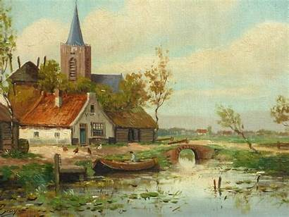 Village Landscape French Paintings