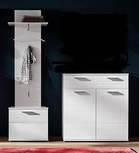 Garderobe 60 Cm Breit : garderobe ice hochglanz wei mit rillenoptik 3 teilig ~ Watch28wear.com Haus und Dekorationen
