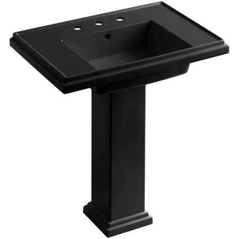 kohler tresham ceramic pedestal combo bathroom sink with 8
