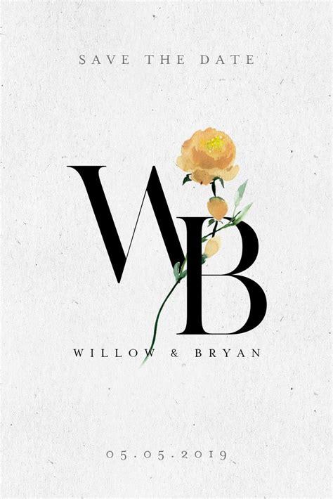 yellow rose wedding logo design click   info