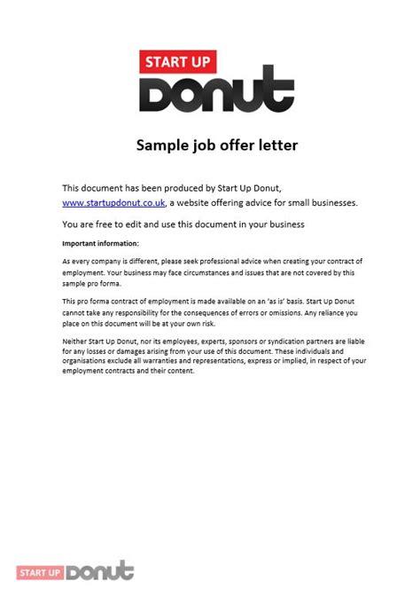 job offer letter templates sles word excel exles job offer letter template startup donut