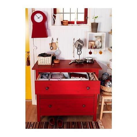hemnes 3 drawer chest red ikea home decor pinterest