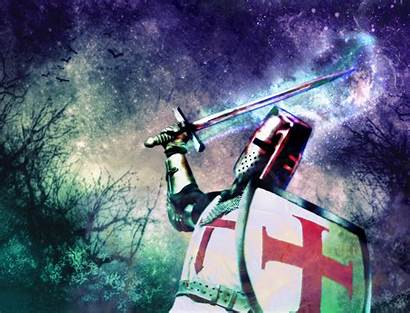 Crusader Knight Fantasy Desktop Wallpapers Sword Background