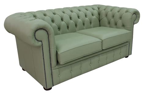 green settee buy pea green leather chesterfield sofa at designersofas4u