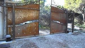 Portail Coulissant Automatique : double portail coulissant automatique faac 746 sodelec ~ Premium-room.com Idées de Décoration