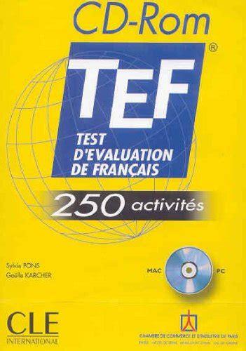 chambre de commerce de cergy test d 39 évaluation de français tef 250 exercices