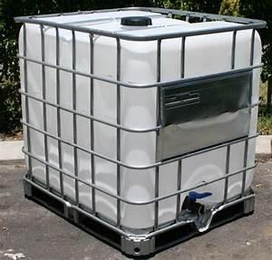 ibc 1000 l wassertank ungereinigt regenwassertank pet tank With französischer balkon mit ibc container garten