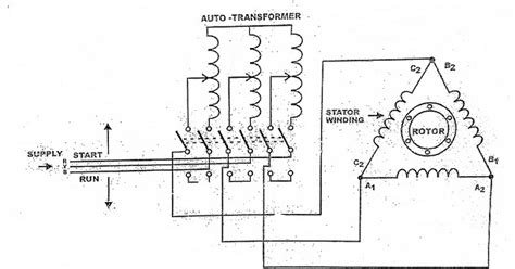 auto transformar starter working diagram electrical engineering