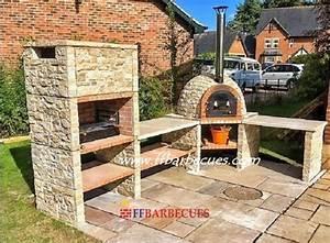 Brasero En Pierre : barbecue d angle en pierre naturelle ff 100 f ffbarbecues ~ Nature-et-papiers.com Idées de Décoration