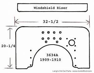 Model T Firewall With Windshield Riser  2 Piece  Mahogany