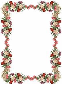 Free Digital Vintage Flower Frame And Border