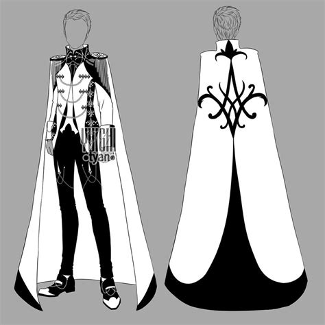 [closed] Auction BW Outfit men 15 by YuiChi-tyan on DeviantArt