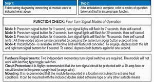 Turn Signal Controller  Electronic Delay And 4