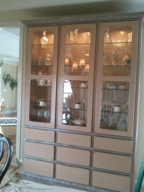 dining hutch wood grained contemporary dining room