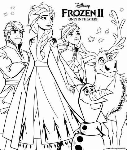Frozen Disney Coloring Coloriage Pages Printable Imprimer