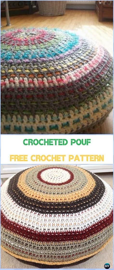 Crochet Pouf Ottoman Pattern Free by Crochet Poufs Ottoman Free Patterns Diy Tutorials
