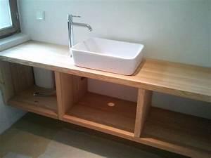 Waschbecken Mit Holzplatte : 100 unterschrank f r aufsatzwaschbecken holz bilder ideen ~ Michelbontemps.com Haus und Dekorationen