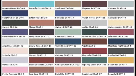 exterior paint color charts youtube