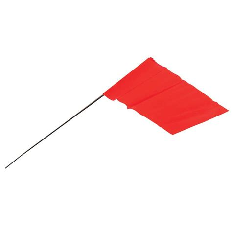 pole building empire 3 5 in x 2 5 in glo orange flag stakes 100 pack