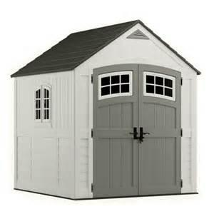 suncast bms7790 cascade 7x7 storage shed home garden lawn