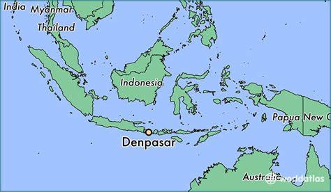 denpasar indonesia denpasar bali map