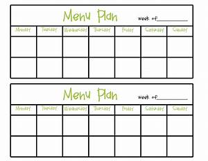 7 day blank menu printable related keywords suggestions With cacfp menu template