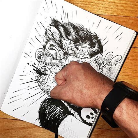 disegni divertenti  lotta  il proprio creatore